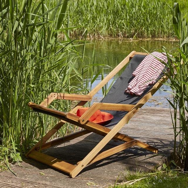 deco jardin transat en bois simple et tendance