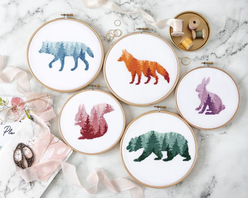 decoration enfant animaux broderie