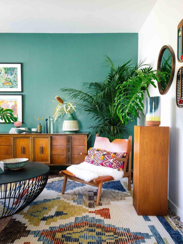 plantes et meubles bois naturel