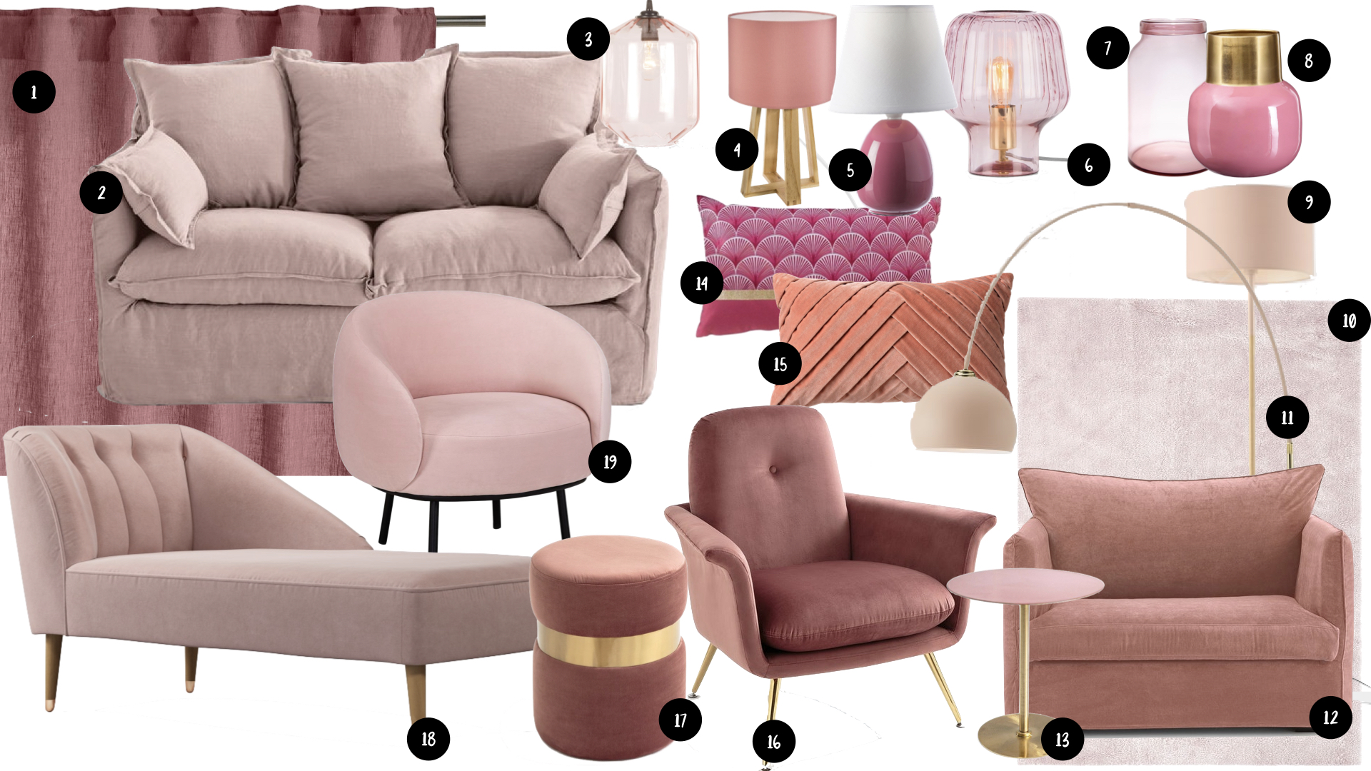 shopping deco salon rose