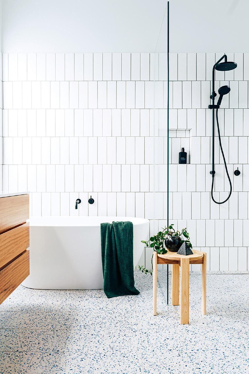 terazzo salle de bain revetement de sol