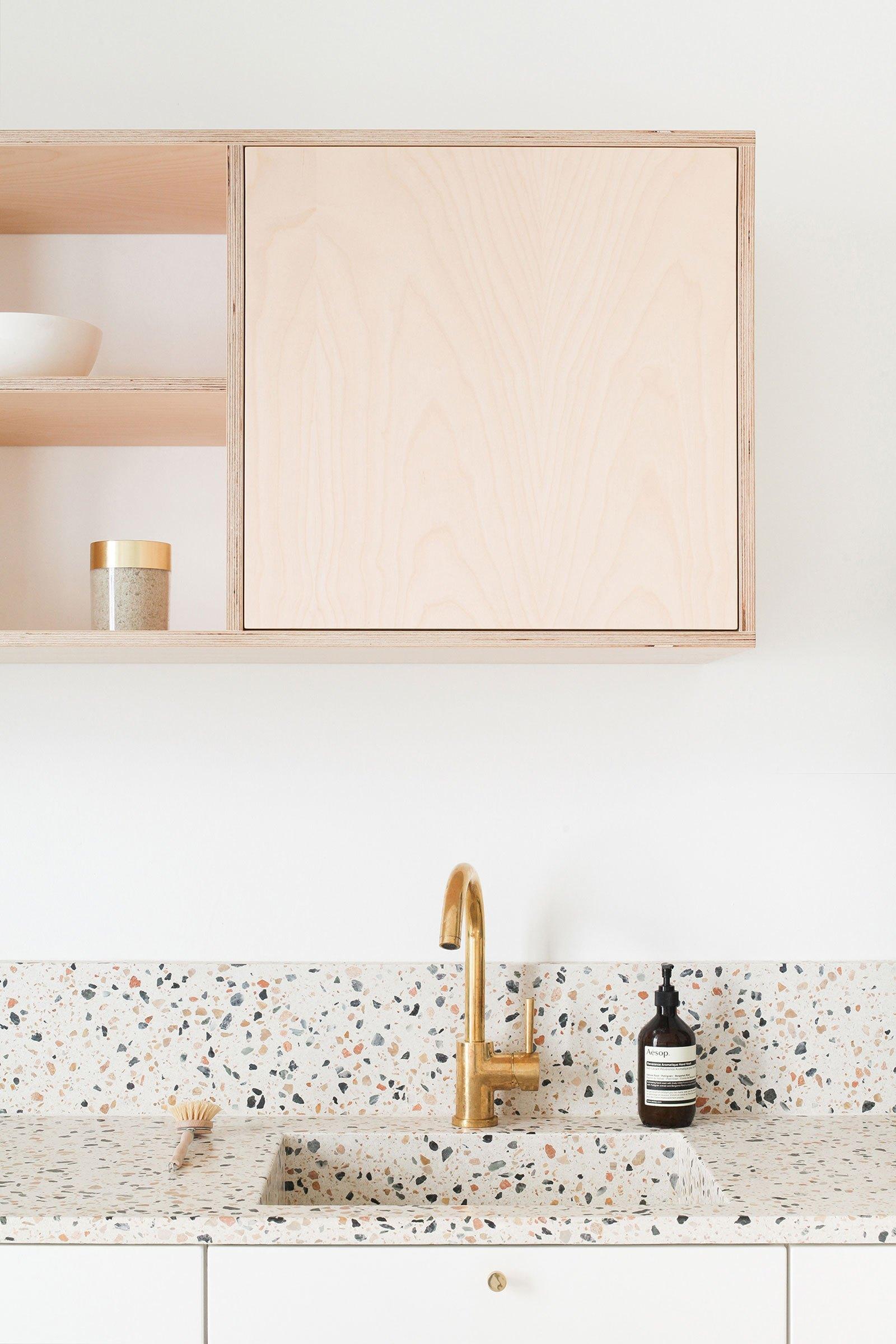 terrazzo cuisine salle de bain revetement