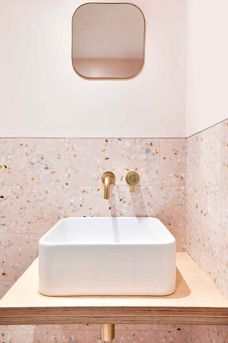 terrazzo salle de bain decoration tendance