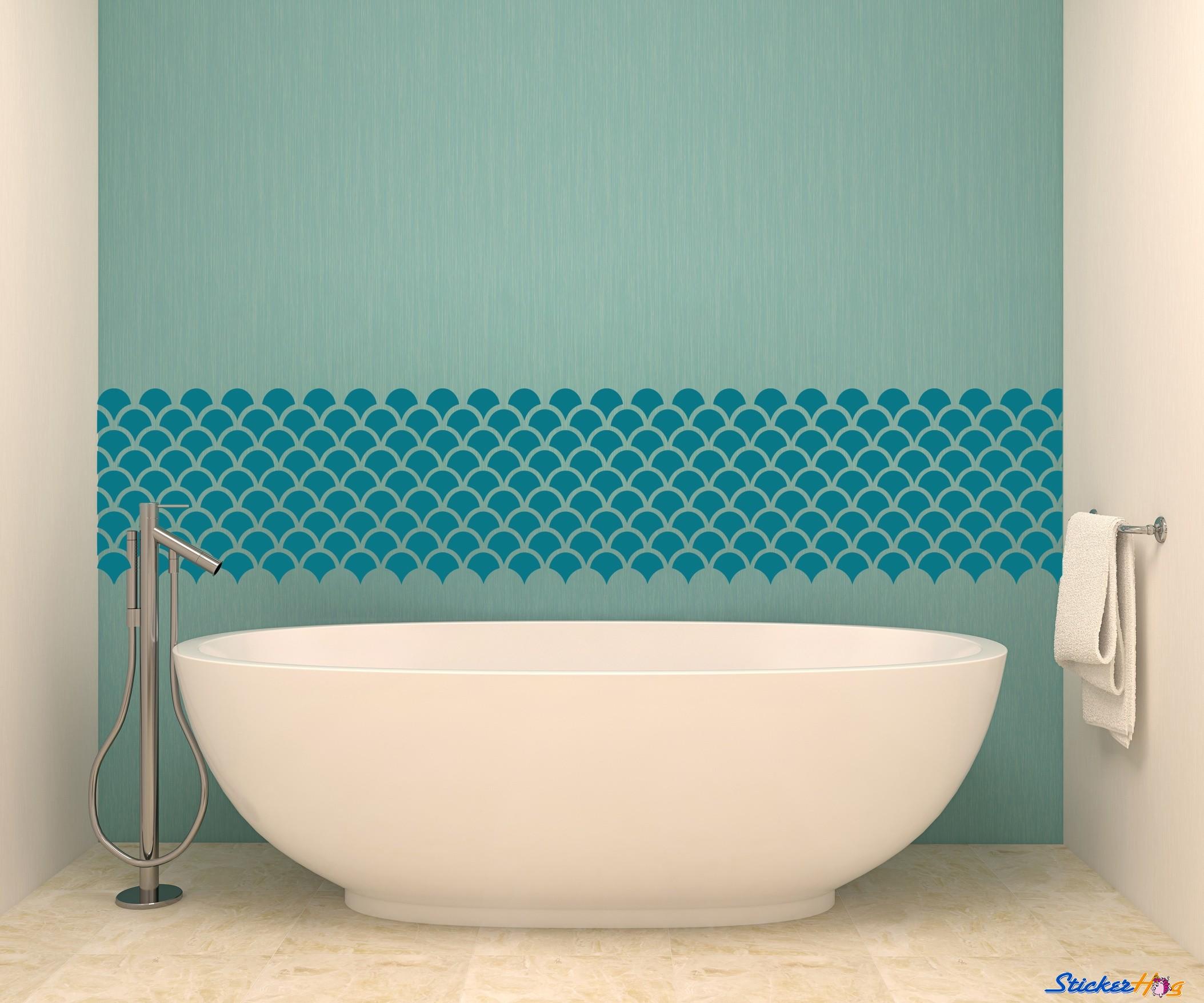 carellage ecaille idee salle de bain minimaliste
