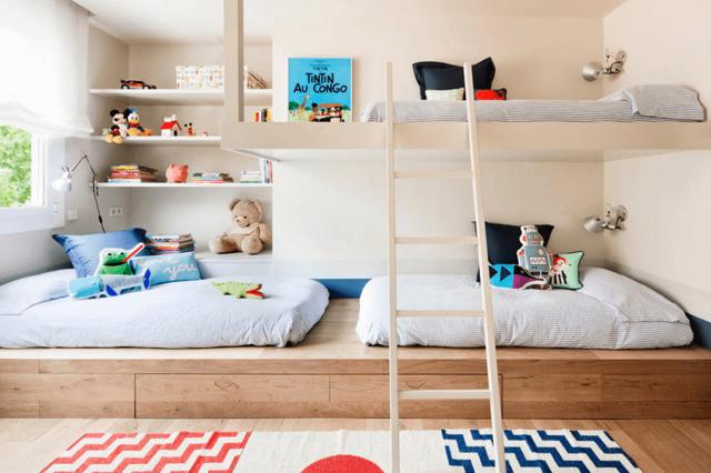chambre enfant 3 lits