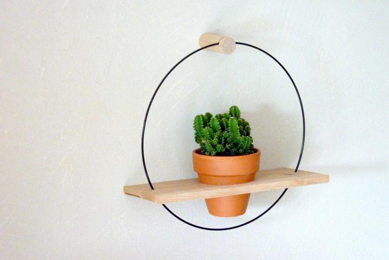 deco bureau etagere plante
