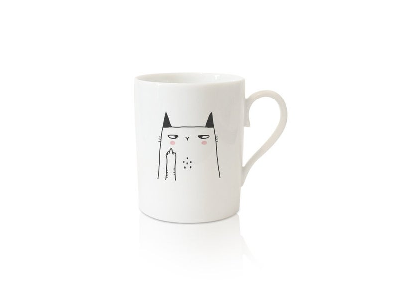 deco bureau fuck cat mug drole message