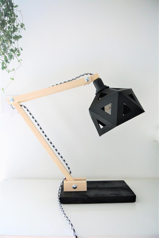 deco bureau lampe origami bois