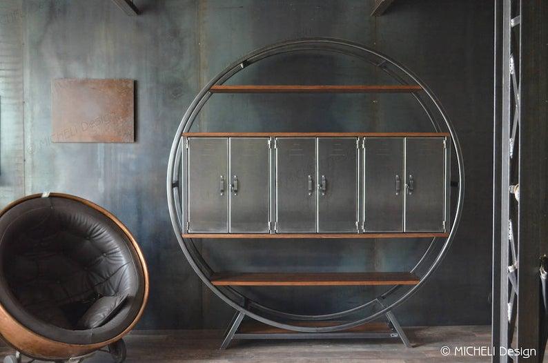 deco bureau meuble bibliotheque industriel design