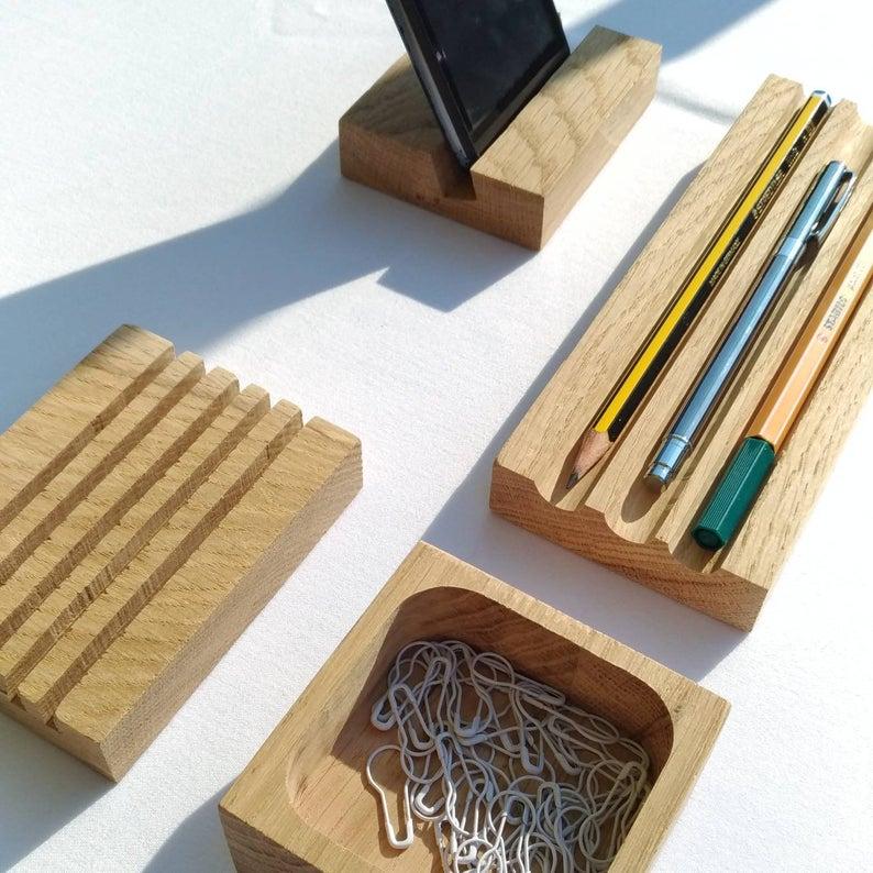 deco bureau minimaliste organiseur bois