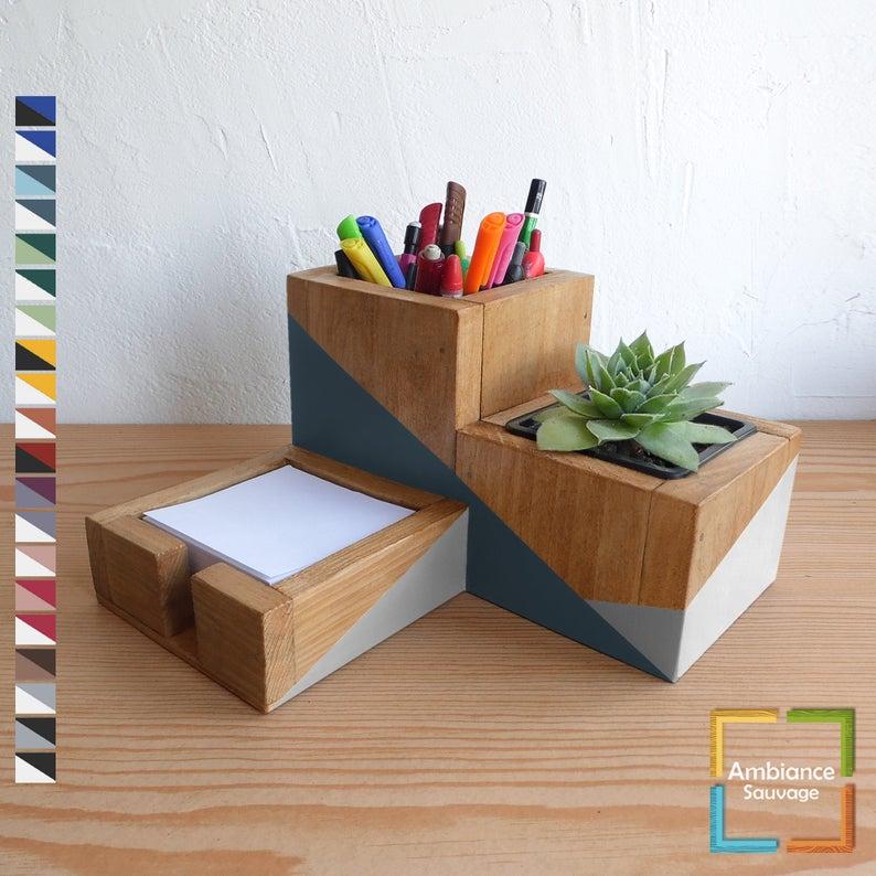 deco bureau organiseur pot a crayon