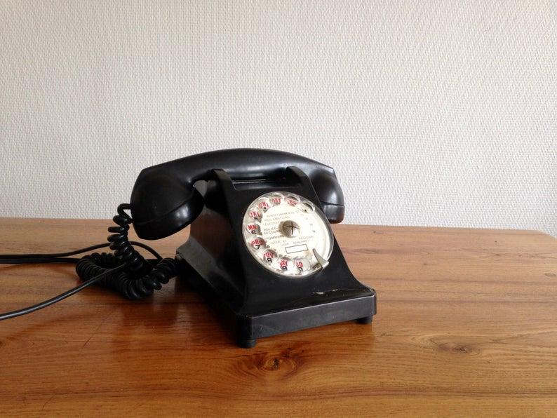 deco bureau telephone vintage