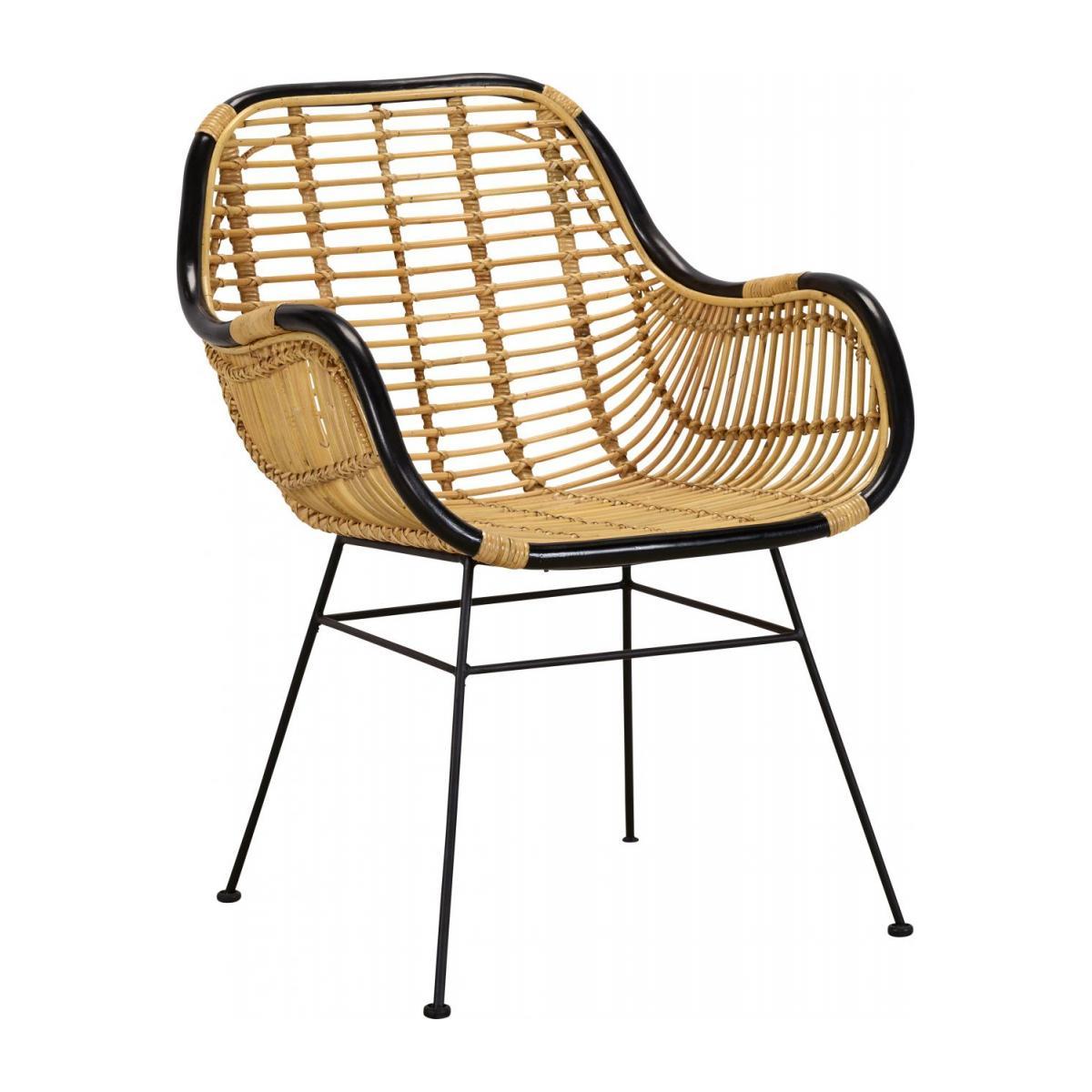 deco cuisine chaise fauteuil rotin