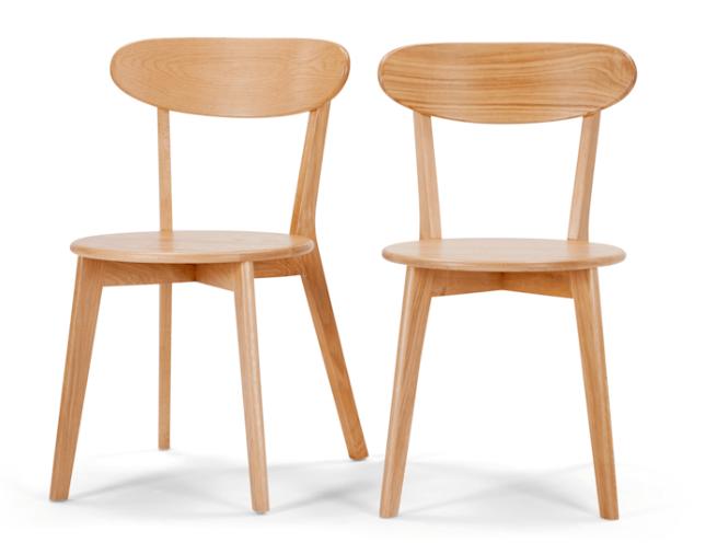 deco cuisine chaise hetre bois