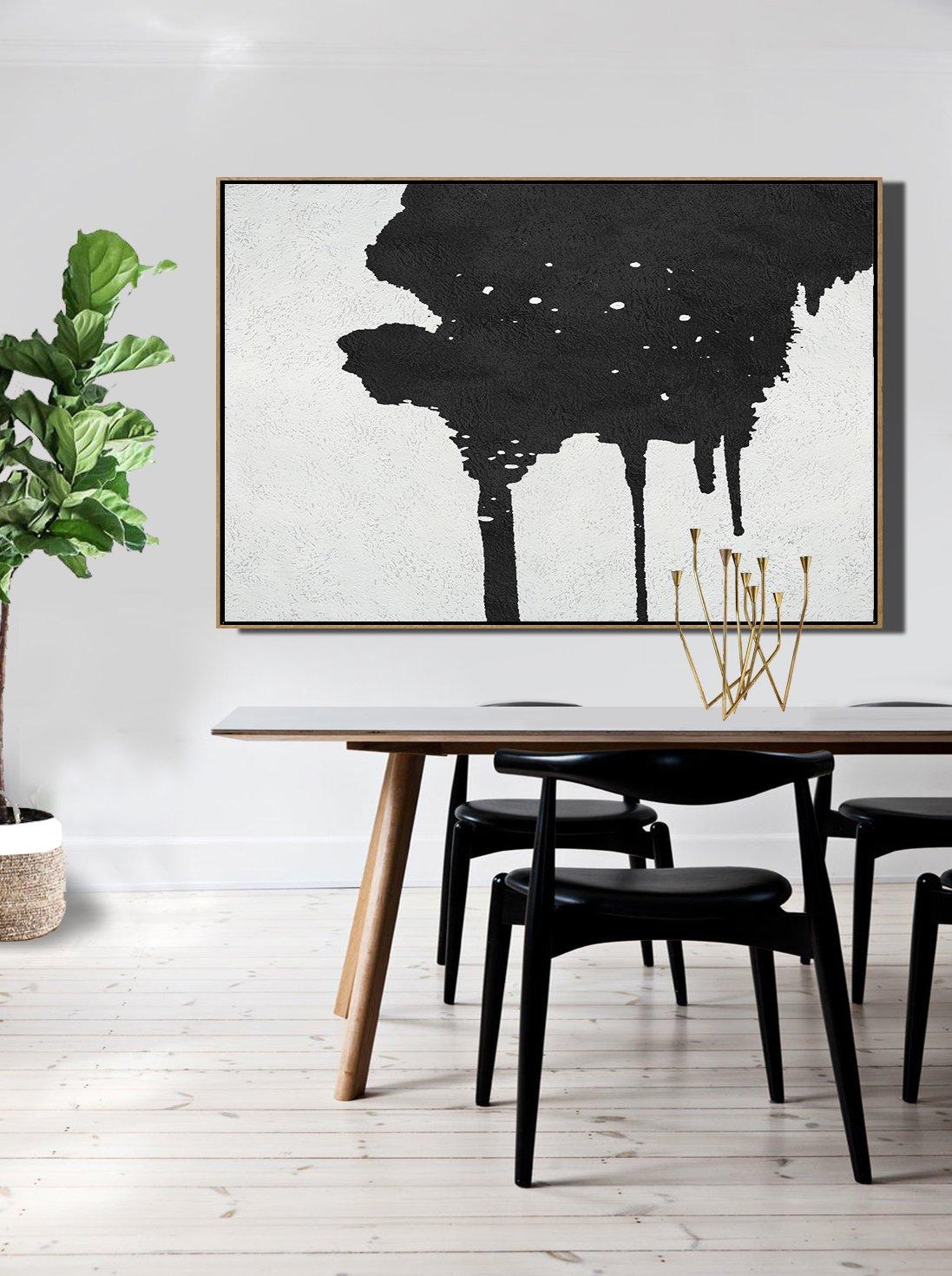 indispensable salle a manger minimaliste noir et blanc