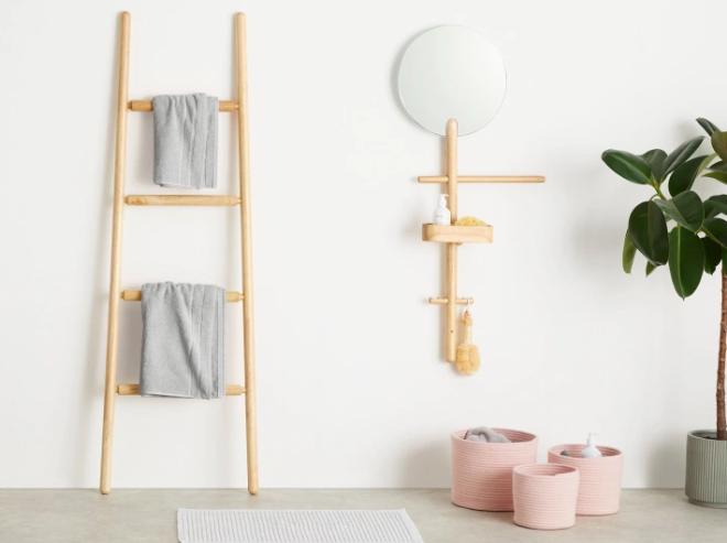 rangement appoint salle de bain miroir etagere tendance