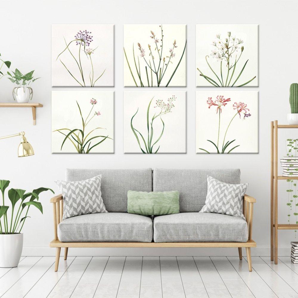 salon deco cadre plantes et fleurs