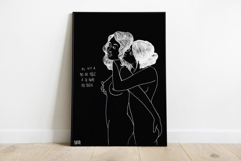 affiche deco lesbienne