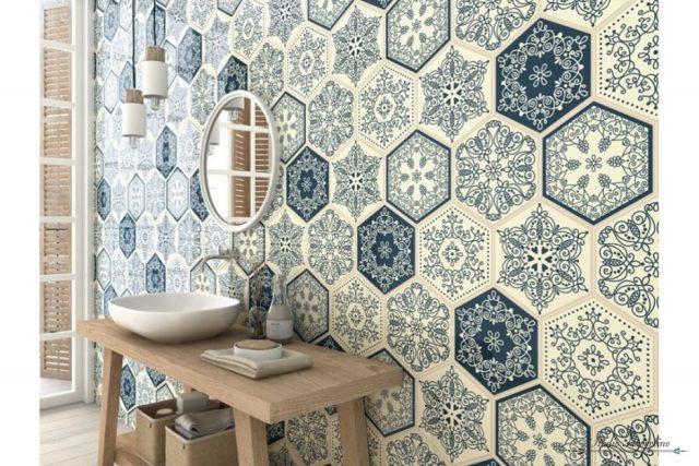 carrelage hexagonal mur carreaux de ciment