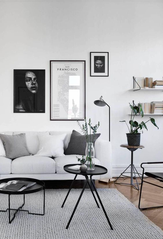 conseil deco minimalisme salon blanc