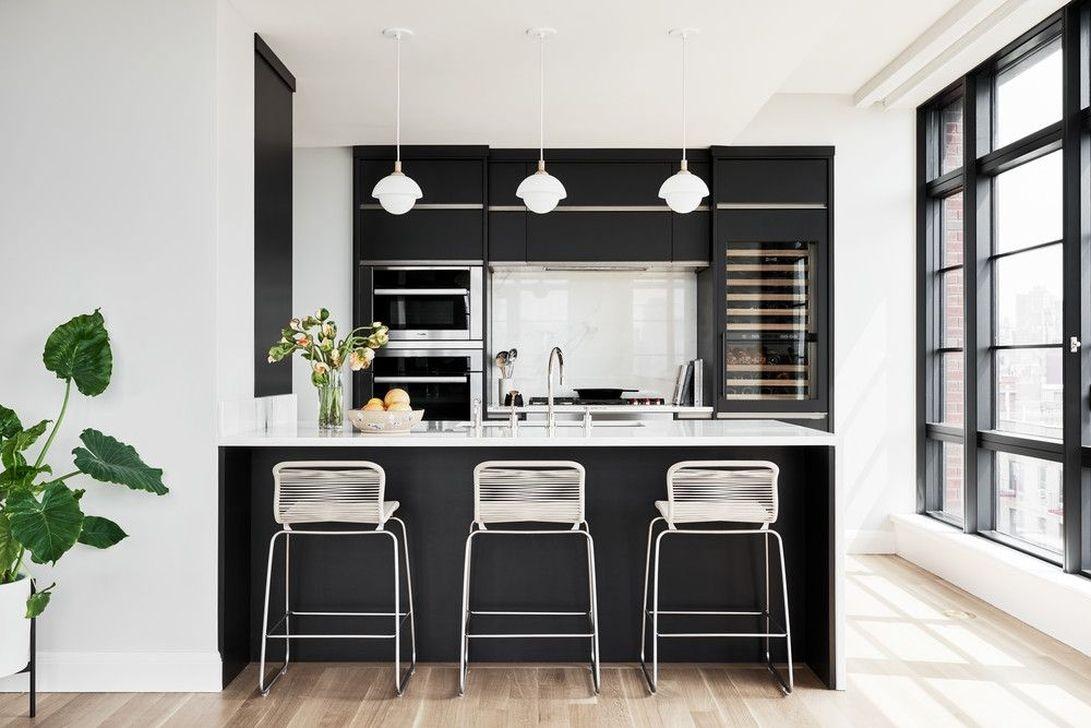 deco cuisine noir et blanc contraste