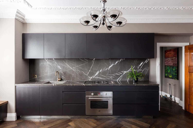deco cuisine noir et marbre