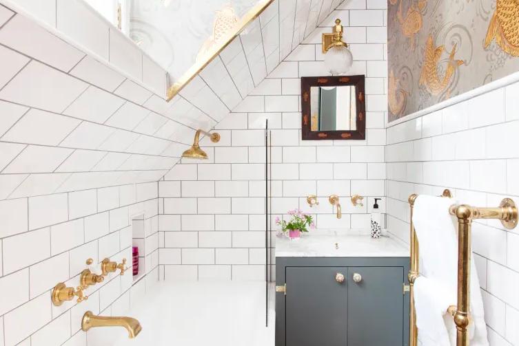 petite salle de bain deco robinetterie