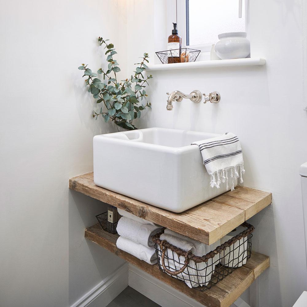 petite salle de bain deco vasque facile