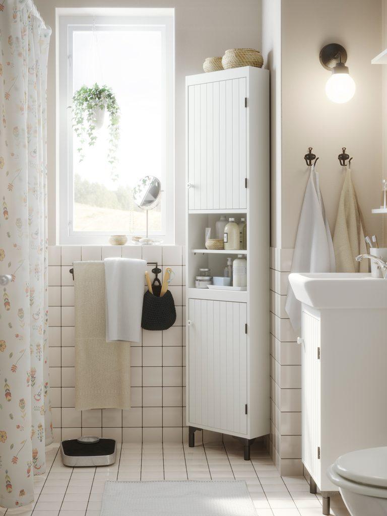 petite salle de bain habiller angle avec meuble
