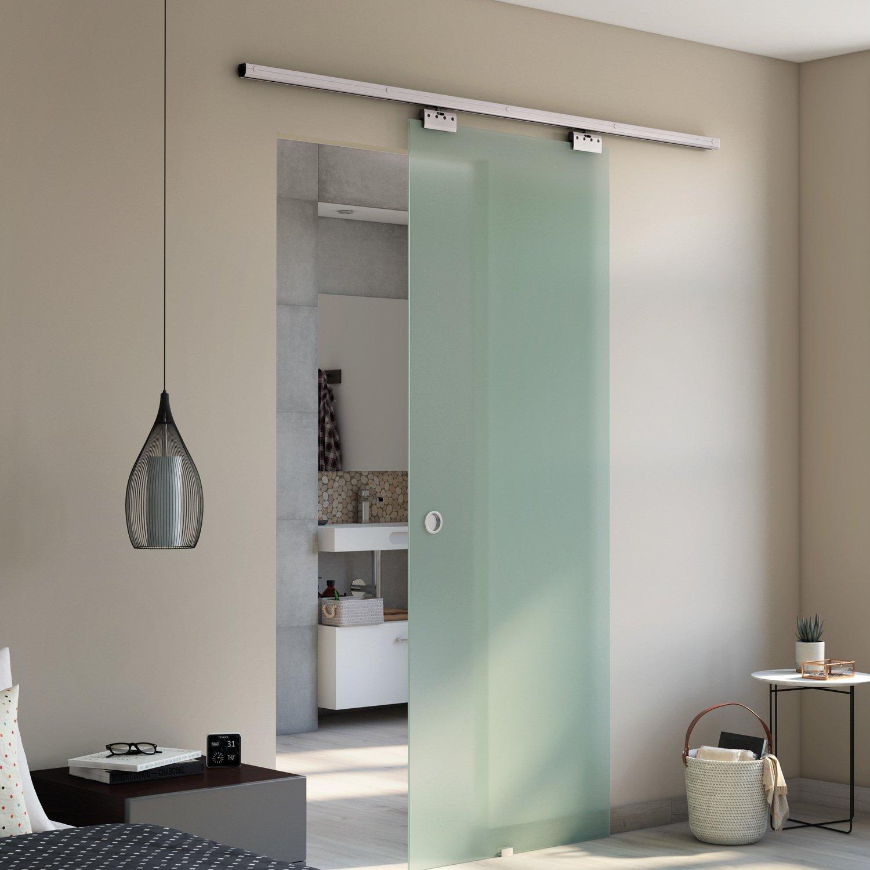 petite salle de bain porte coulissante idee vitre