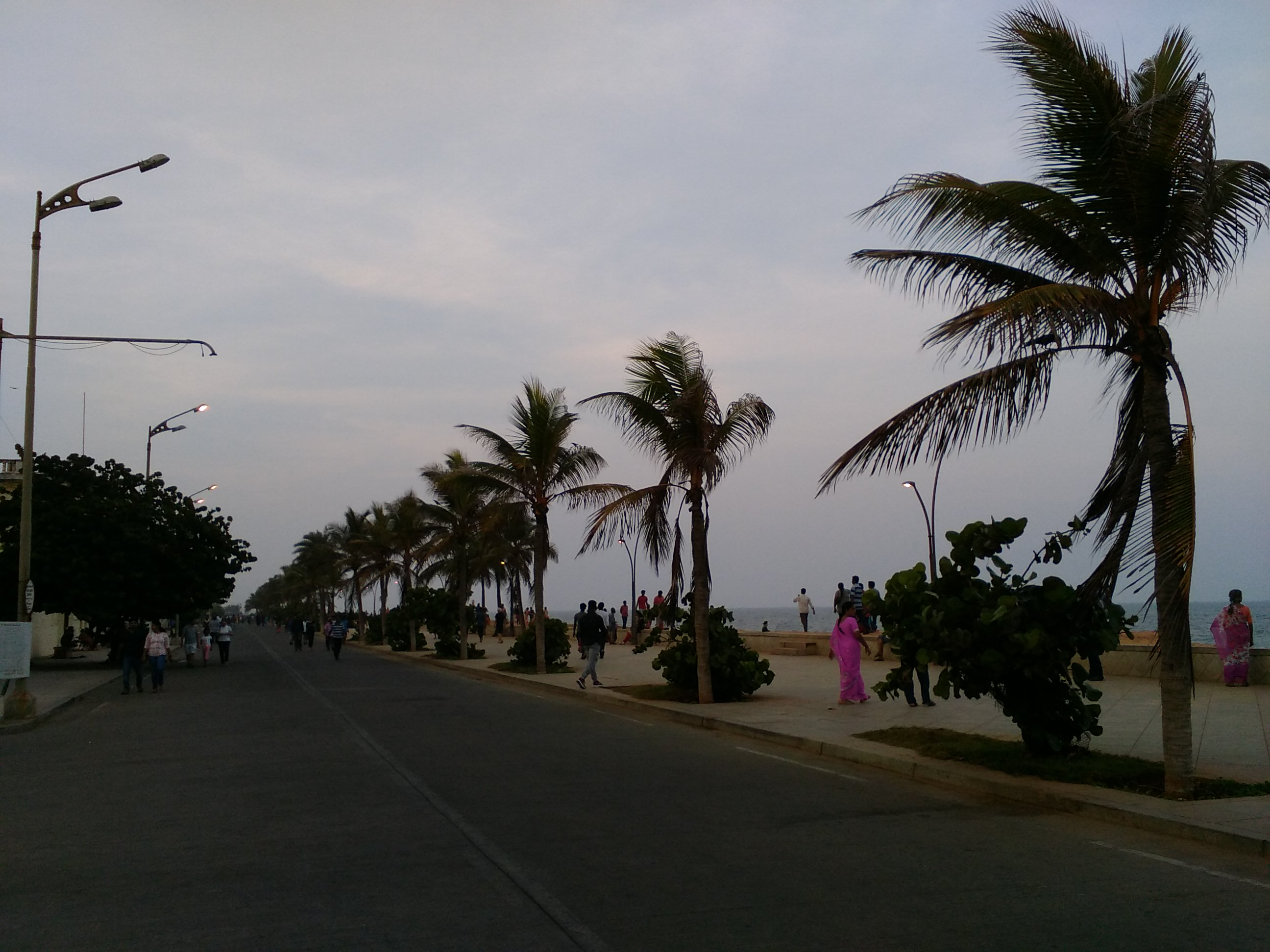 pondicherry voyage promenade plage
