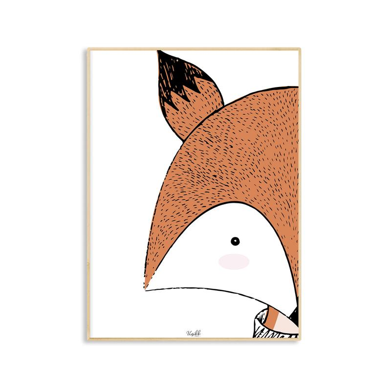affiche deco enfant illustration renard