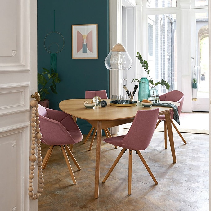 chaise salle a manger rose