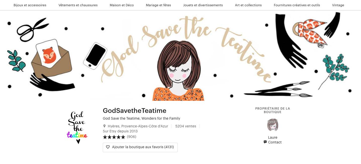 etsy acheter français god save the teatime