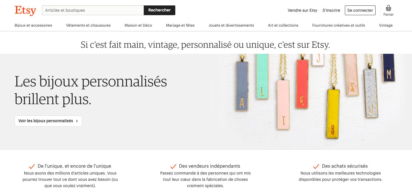 etsy acheter francais createur talent