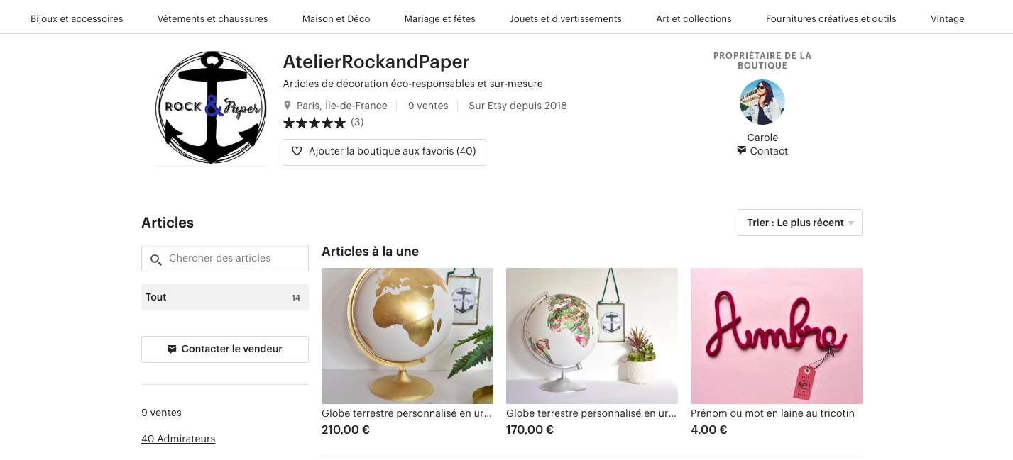etsy acheter francais rock and paper