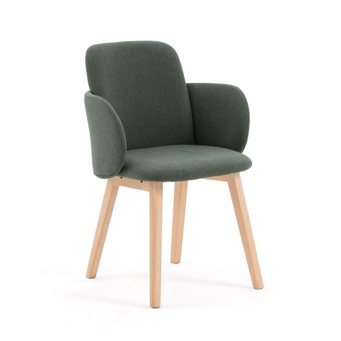 fauteuil salle a manger bois et tissus