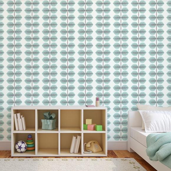 papier peint minimaliste chambre motif