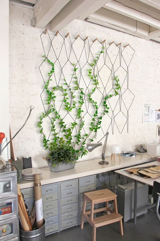 plante grimpante macrame deco mur