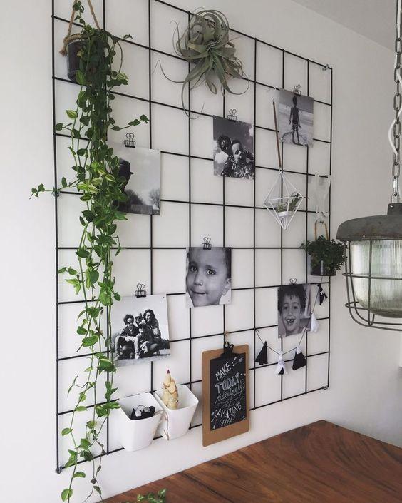 plante grimpante moodboard decoration murale