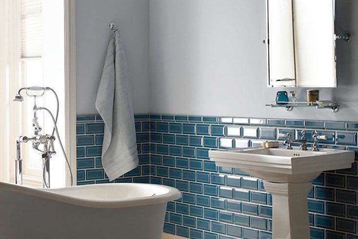 salle de bain idee deco couleur bleue