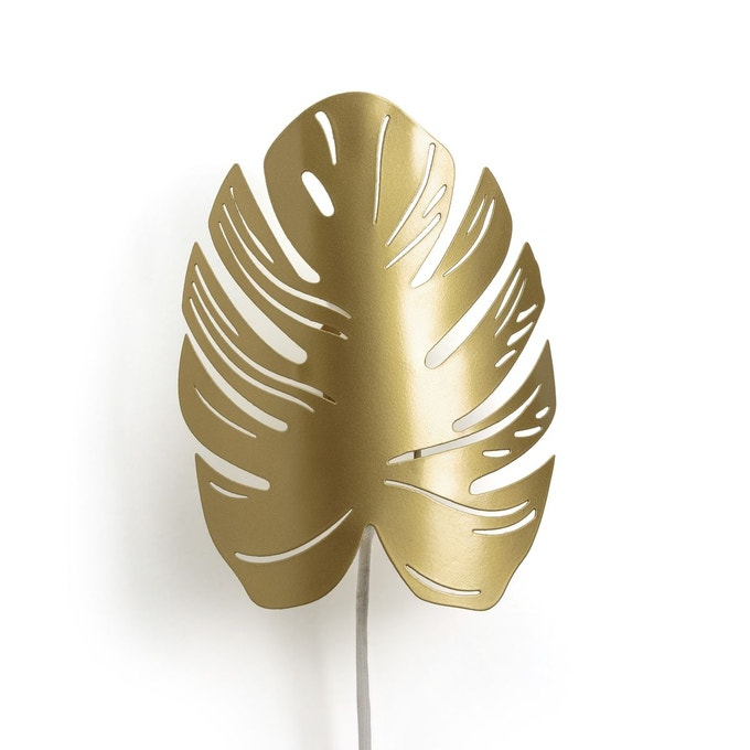 salon applique feuille monstera