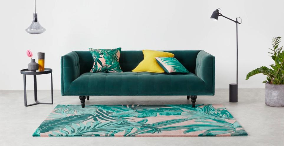 tapis motif decoration tropicale