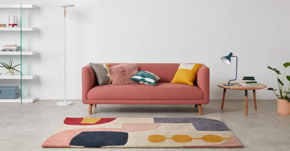 tapis motif geometrique confort