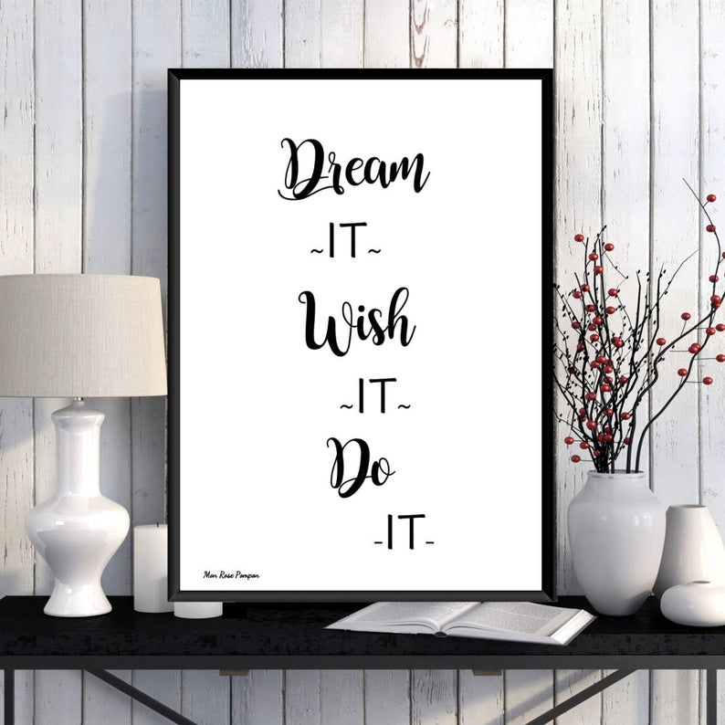affiche deco murale motivation quotidienne