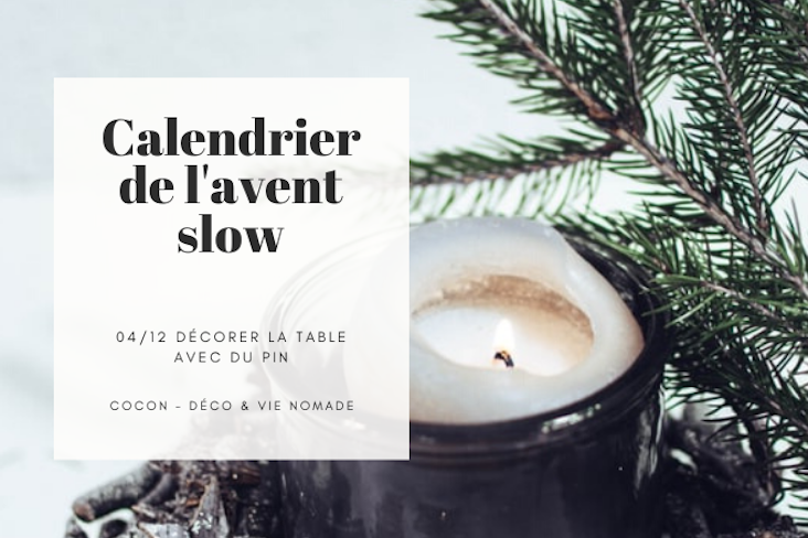 calendrier avent slow decoration table naturelle
