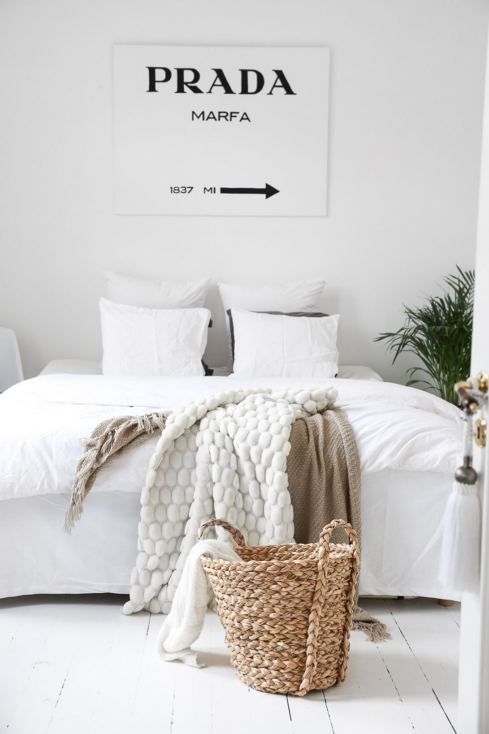 chambre cadre deco minimaliste