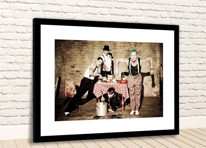 decoration rock red hot chili peppers groupe photo