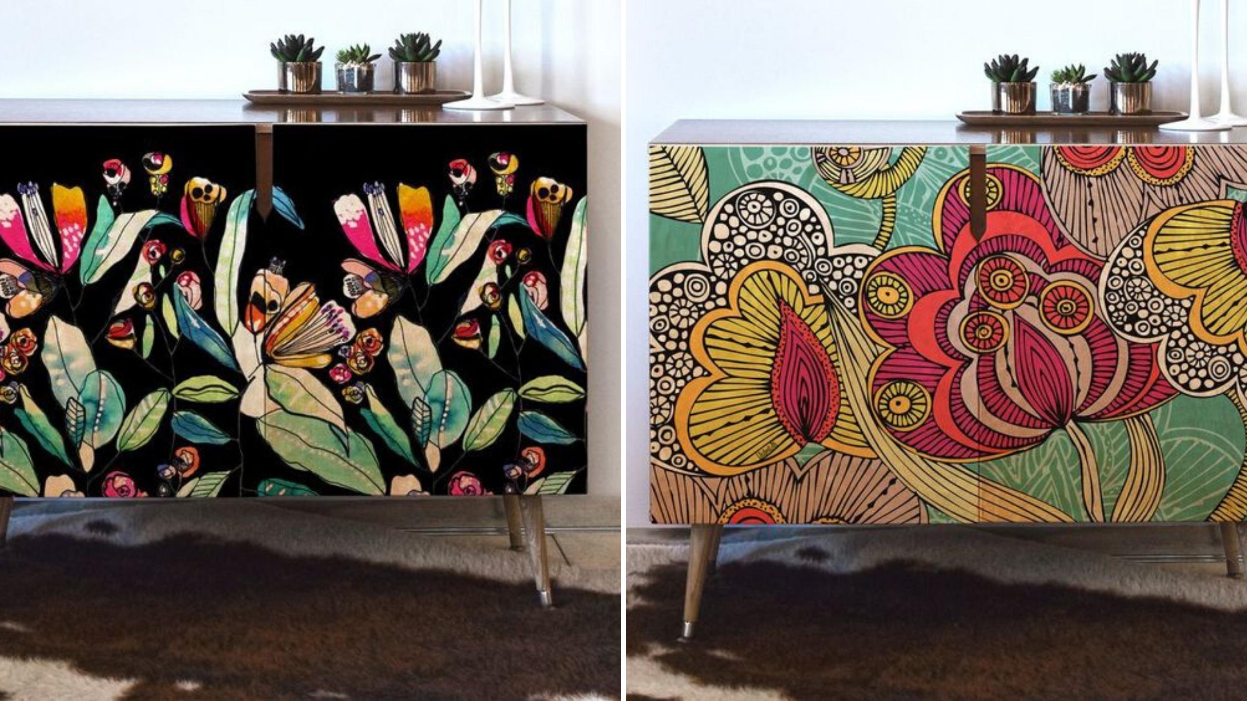 idee deco personnaliser mobilier fleur