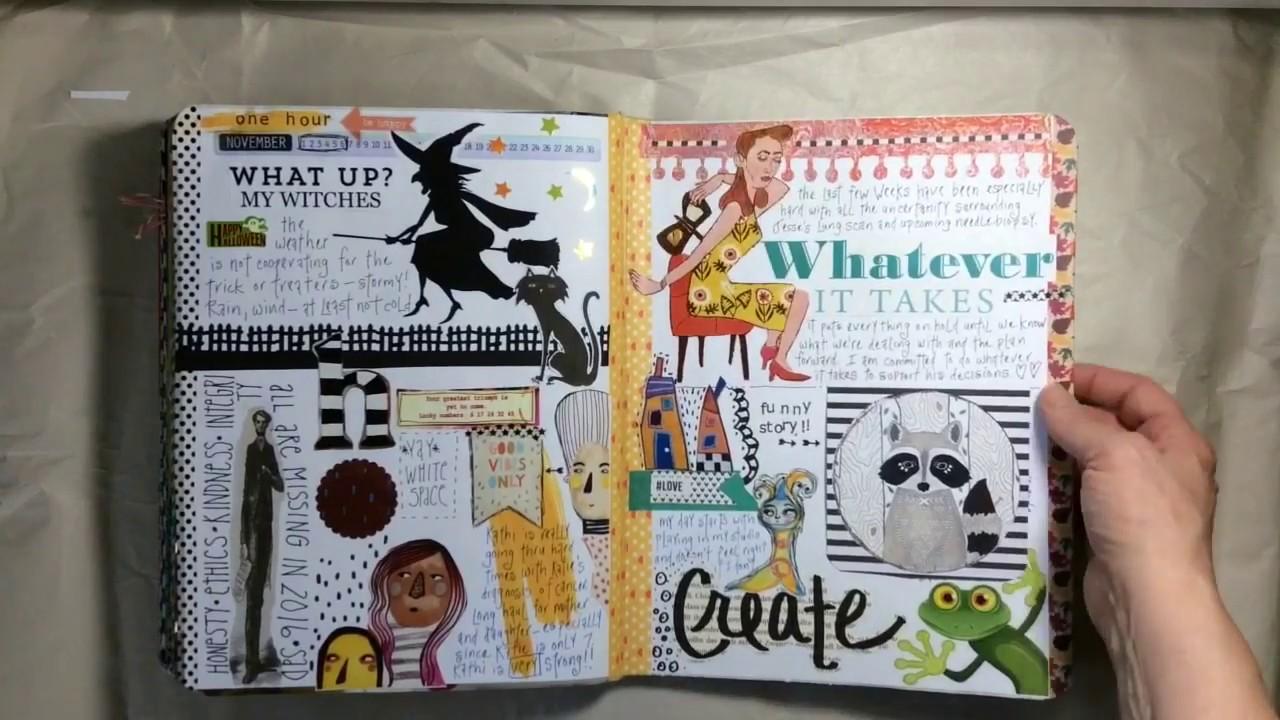 journal creatif dessin et ecriture